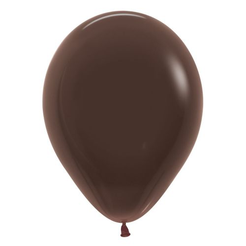 "Fashion Colour Solid Chocolate 076 Latex Balloons 12""/30cm"